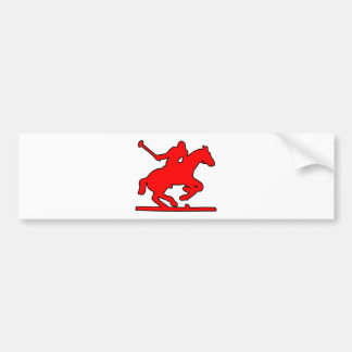 British Polo Sport Horse Player Silhouette Ponies Bumper Sticker