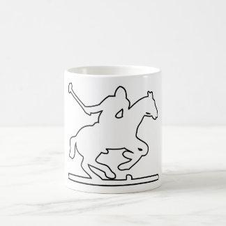 British Polo Sport Horse Player Silhouette Ponies Coffee Mug