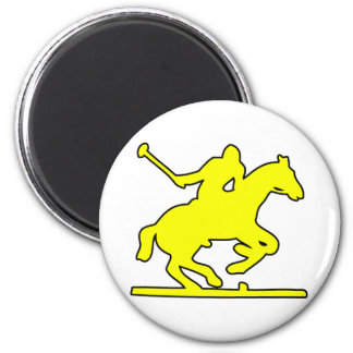 British Polo Sport Horse Player Silhouette Ponies Magnet