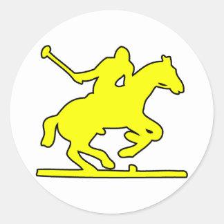 British Polo Sport Horse Player Silhouette Ponies Sticker