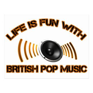 british pop music designs postcard