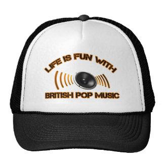 british pop music designs trucker hat