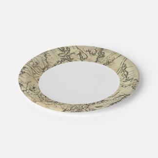 British Possessions in North America 2 7 Inch Paper Plate