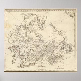 British Possessions in North America Poster