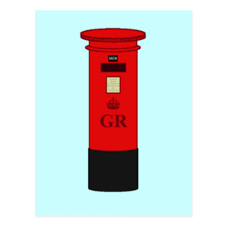British Post Box Postcard