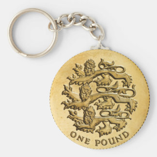 """""""British Pound"""" design gifts and products Keychains"""