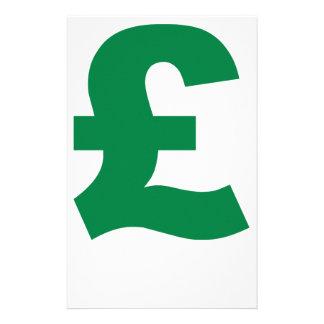 British Pound Stationery