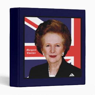 British Prime Minister Margaret Thatcher 3 Ring Binder