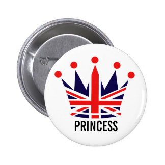 British Princess Crown Button