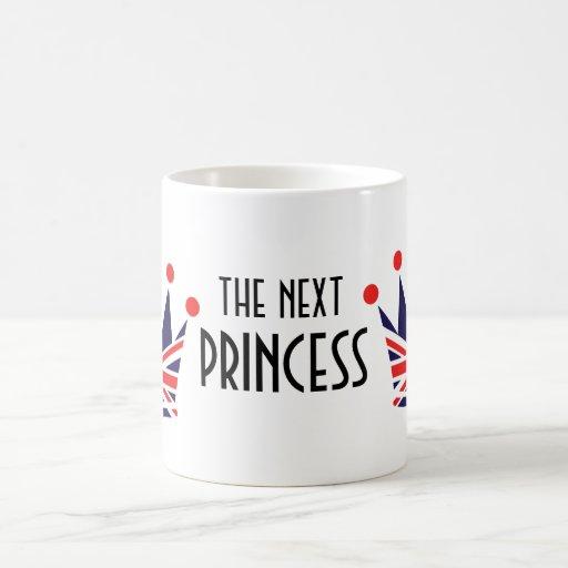 British Princess Crown Classic White Coffee Mug