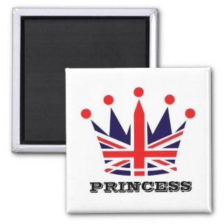 British Princess Crown Fridge Magnets
