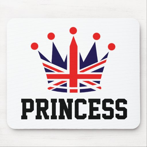 British Princess Crown Mousepads
