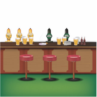 British Pub Bar Cutout