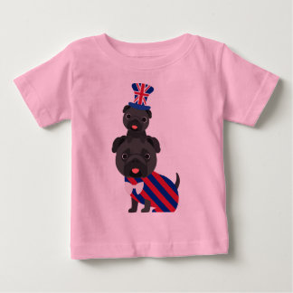 British Pugs - Black - Customize Baby T-Shirt