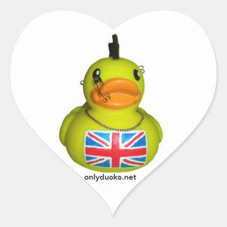 British Punk Duck - Heart Stickers