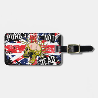 British Punk Not Dead Tag For Luggage