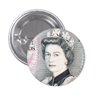 British Queen Elizabeth 2 Pinback Button