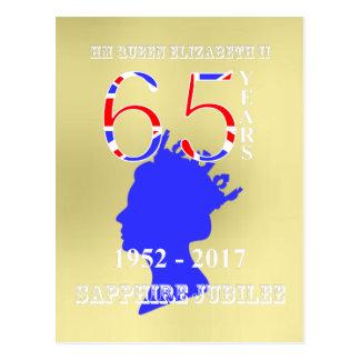 British Queen Elizabeth II Sapphire Jubilee Postcard