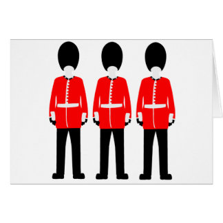 British Queen's Guard Card
