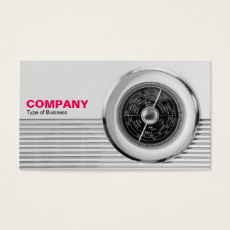 British Radio Dial - Black and White Business Card