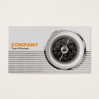 British Radio Dial - Warm Toned Black and White Business Card