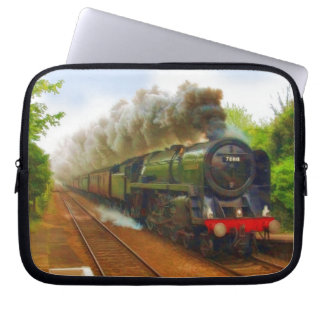 British Railway Steam Train for Trainspotters Art Laptop Computer Sleeves
