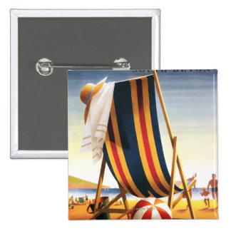 British Railways Beach Chair and Ball Poster Button