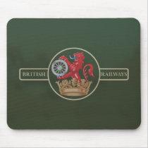"British Railways ""Ferret and Dartboard"" Crest Mouse Pad"