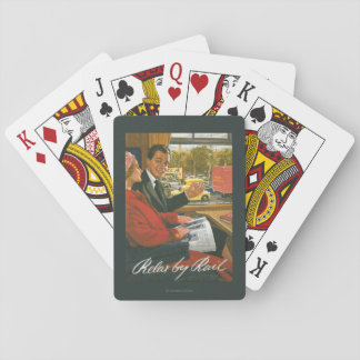 British Railways Relax by Rail Poster Playing Cards