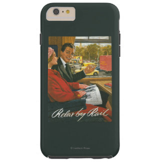 British Railways Relax by Rail Poster Tough iPhone 6 Plus Case