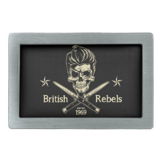 British Rebels Rectangular Belt Buckle