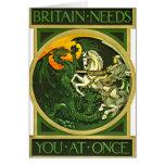 British Recruiting Poster 1915 Card