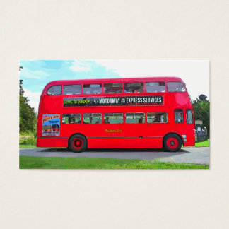 BRITISH RED BUS BUSINESS CARD