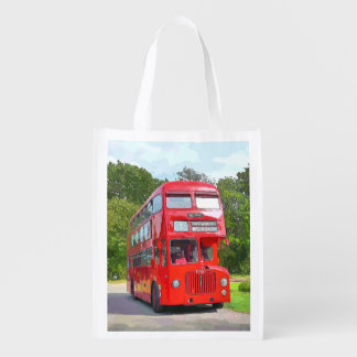 BRITISH RED BUS GROCERY BAG