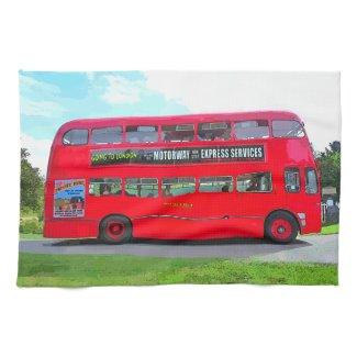 BRITISH RED BUS KITCHEN TOWELS