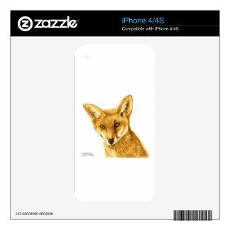 British Red Fox Wild life Skin For iPhone 4