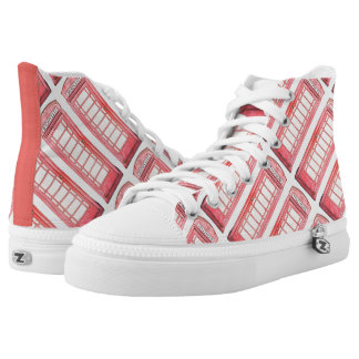 British red phone booth High-Top sneakers