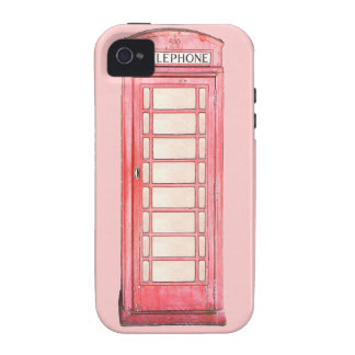 British Red Phone booth iphone case iPhone 4 Covers