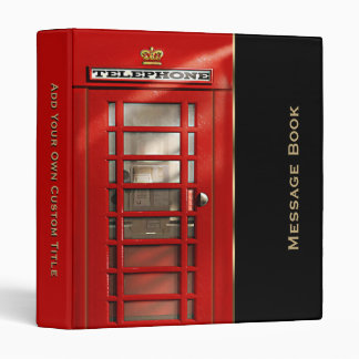 British Red Phone Booth Messages Binder