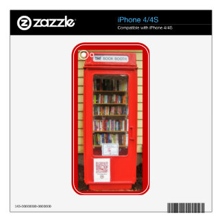 british red phone box library skin for the iPhone 4