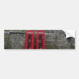 British Red Phone Boxes at Edinburgh Castle Bumper Sticker