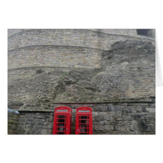 British Red Phone Boxes at Edinburgh Castle Card