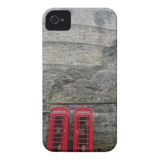 British Red Phone Boxes at Edinburgh Castle iPhone 4 Case-Mate Case