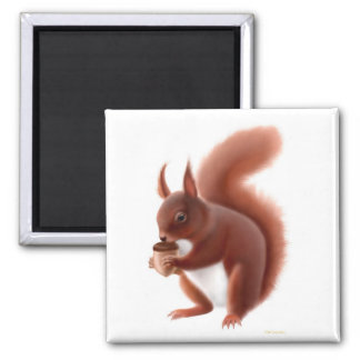 British Red Squirrel Magnet