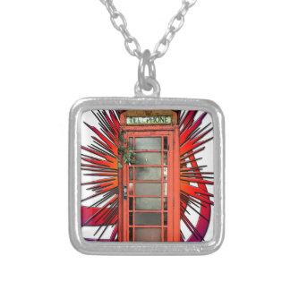 British Red Telephone Box Art Necklaces