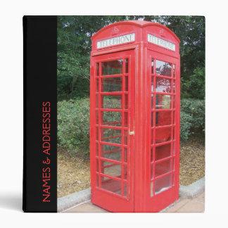 British Red Telephone Box Vinyl Binders