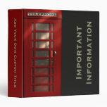 British Red Telephone Box Binder