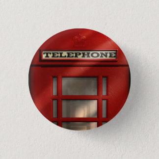 British Red Telephone Box Button