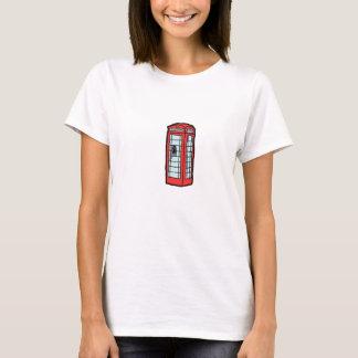 British Red Telephone Box Cartoon Illustration T-Shirt