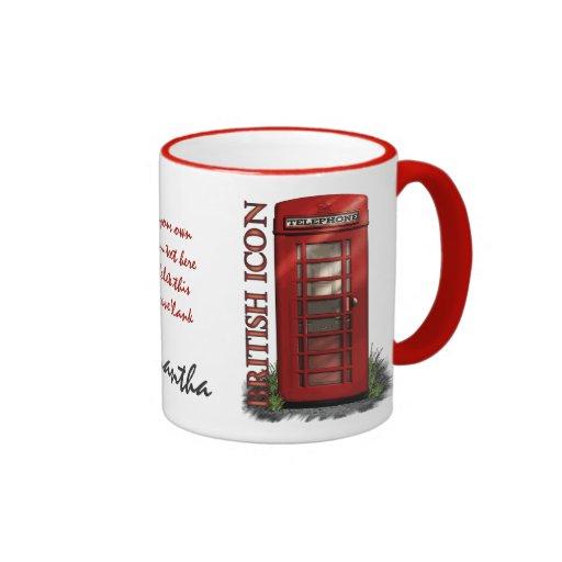 British Red Telephone Box Custom Mugs